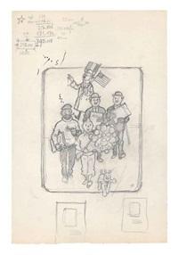 tintin préparatoire pour une illustration publicitaire by hergé