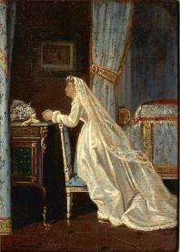 le recueillement de la mariée by jean antoine laurent