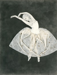 ballerina: stretching left by kiki smith