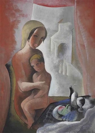 mother with child by béla kádár