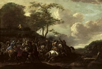 a cavalry skirmish between christians and turks by simon johannes van douw