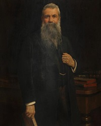 portrait of a gentleman in his library by honorable john collier