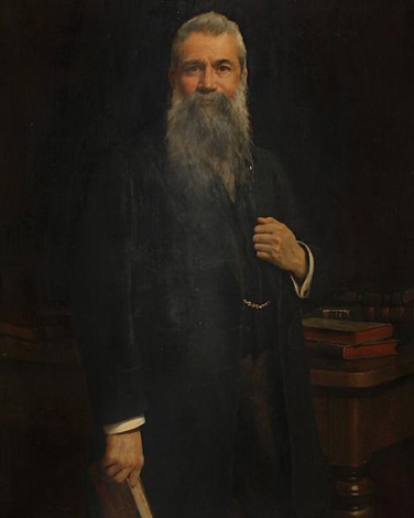 portrait of a gentleman in his library by john collier