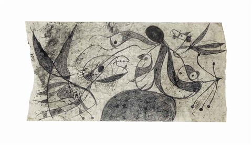 femme oiseaux by joan miró