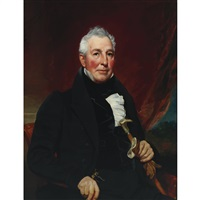 portrait of captain elisha hart by william jewett and samuel waldo