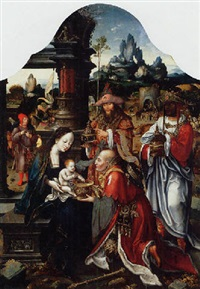 the adoration of the magi by jan van dornicke