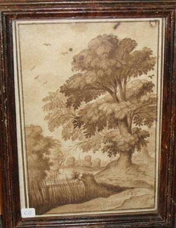 paysage au grand arbre by alexander keirincx