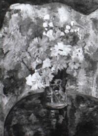 blumen vor einem diwan by erika abels-d'albert