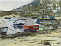 mousehole harbour by ken howard