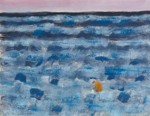 small figures in a big sea by milton avery
