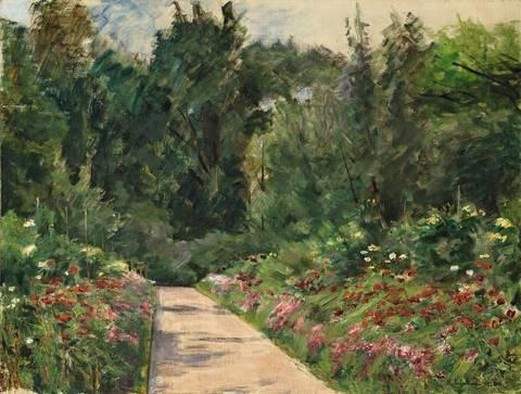 der nutzgarten in wannsee nach westen by max liebermann