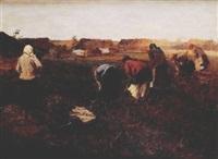 kopanie kartofli by alexandre stepanovich iakimchuk