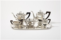 coffee and tea set (set of 6) by d.j. aubert
