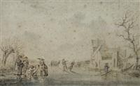 paysage aux patineurs by dutch school (18)