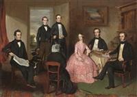 portrait of the lockhart family by scottish school (19)