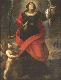 a female saint in supplication by alessandro tiarini