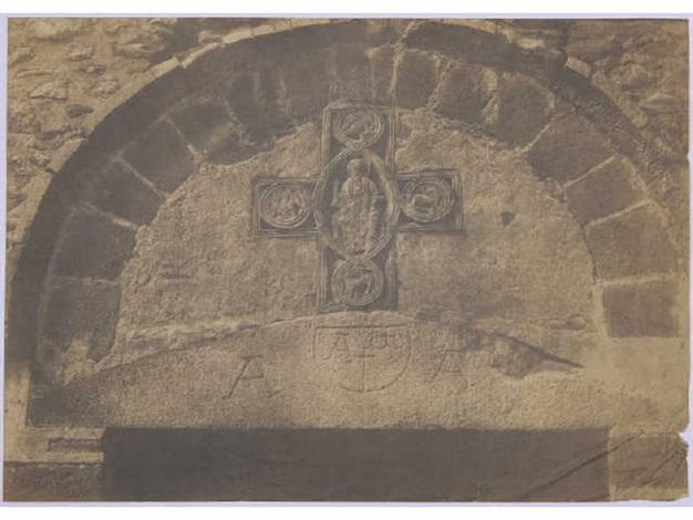 tympan du portail ouest église sainte marie arles sur tech pyrénées orientales from mission héliographique by gustave le gray and auguste mestral