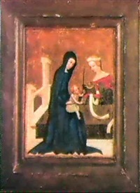 the mystic marriage of saint catherine by master of heiligenkreuz