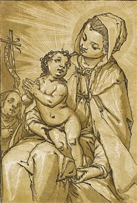 madonna and child (after alessandro casolani) by andrea andreani