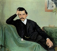 herrenbildnis (dr. r. hofstätter) by emanuel baschny