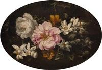 rosen und lilien auf dunklem grund by tommaso realfonso
