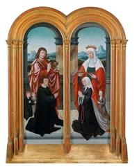 der heilige apostel johannes und die heilige elisabeth mit einem stifterpaar und deren kindern (diptych) by flemish school-bruges (16)