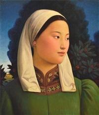 mongolian girl by xue mo