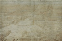 vue cavalière du château de versailles by lievin cruyl