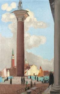 petite vue de venise (colonne saint théodore) by maurice denis