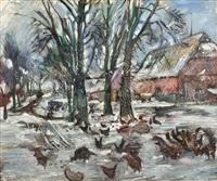 gutshof im winter by lovis corinth