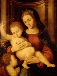 la virgen, el niño y san juan bautista by mariotto albertinelli