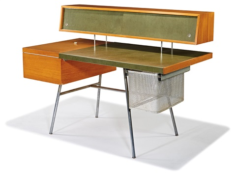 Home Office Desk And Stool 2 By George Nelson