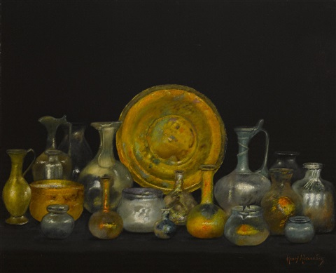 still life with phoenician glass by henry alexander