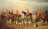 the burton hunt, with lincoln cathedral in the distance by arthur lewis townshend