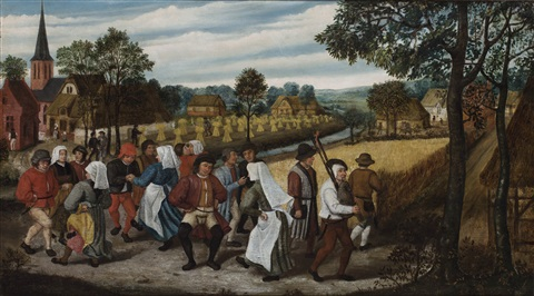 A Wedding Dance In The Open Air With Bagpipe Player By Pieter Brueghel Younger