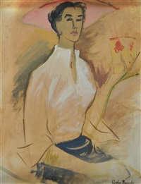 seated lady by gladys maccabe