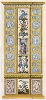 die drei parzen und zwei satyre, pl. 9 (from loggie di rafaele nel vaticano, by giovanni volpato and giovanni ottaviani) by lodovico tesio