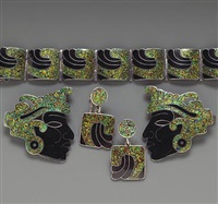 suite of jewelry (set of 5) by margot de taxco