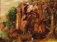 paysage aux ruines by michiel de gast