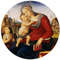 madonna col bambino e san giovannino, san girolamo e san francesco by bartolomeo di giovanni