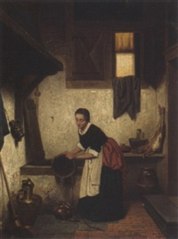 a woman in an interior by charles joseph grips