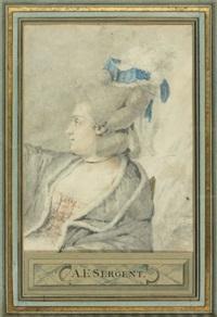 portrait de femme by antoine louis françois sergent-marceau