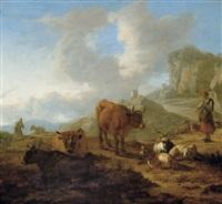 paysage avec bergère by adam de colonia