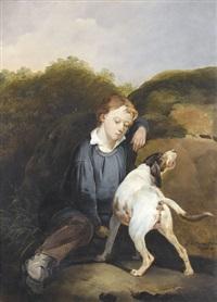schlafender knabe mit hund by joseph simon volmar
