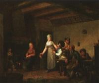 scène d'auberge à l'époque révolutionnaire by cornelis van cuylenburg