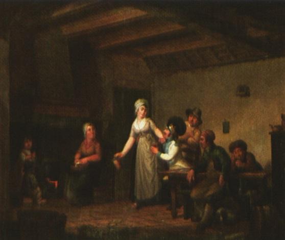 scène dauberge à lépoque révolutionnaire by cornelis van cuylenburg