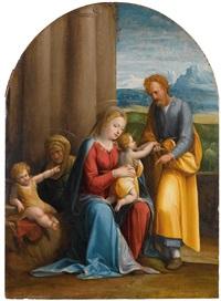die heilige familie mit dem heiligen johannes und der heiligen anna by benvenuto tisi da garofalo