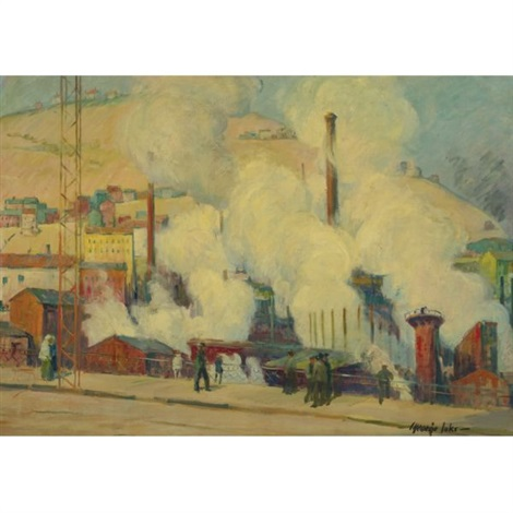 industrial scene pottsville pennsylvania by george benjamin luks