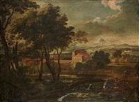 paysage classique avec un torrent by paolo anesi