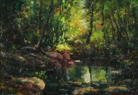 woodland brook by henry hammond ahl